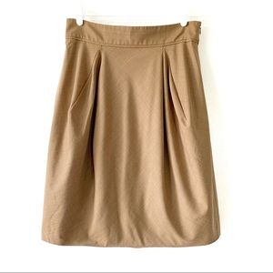 BCBGMazAzria Tan Career Skirt Wool Blend Size 10